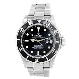 Rolex Submariner Stainless Steel Oyster Automatic Black Men's Watch 116610