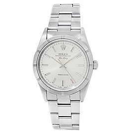 Rolex Air-King Stainless Steel Oyster Automatic Silver Men's Watch 14010