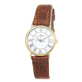 Baume & Mercier Classima Executives 18k Yellow Gold White Ladies Watch MOAO5008