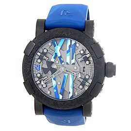 Romain Jerome Steampunk PVD Steel Blue Skeleton Men's Watch RJ.T.AU.SP.009.03