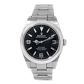 Rolex Explorer Stainless Steel Oyster Automatic Black Men's Watch 214270