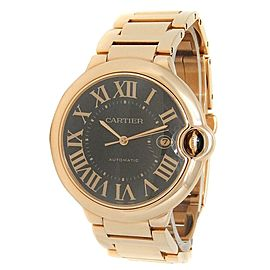 Cartier Ballon Bleu 18k Rose Gold Automatic Chocolate Men's Watch W6920036