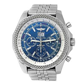Breitling Bentley Stainless Steel Chronograph Automatic Blue Men's Watch A44362