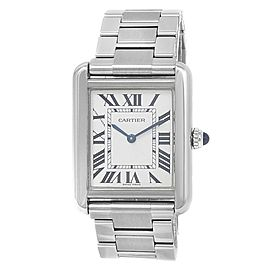 Cartier Tank Solo Stainless Steel Quartz Silver Ladies Watch W5200013