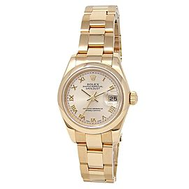 Rolex Datejust 18k Yellow Gold Oyster Automatic Champagne Ladies Watch 179168