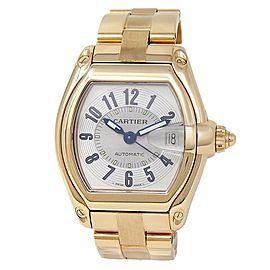 Cartier Roadster 18k Yellow Gold Automatic Silver Men's Watch W62005V1