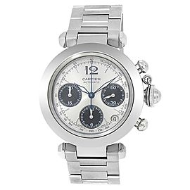 Cartier Pasha Stainless Steel Chronograph Automatic Silver Men's Watch W31048M7