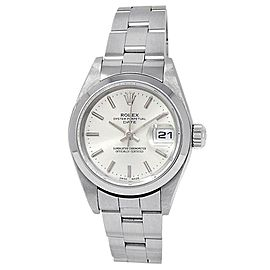 Rolex Date Stainless Steel Oyster Automatic Silver Ladies Watch 79160