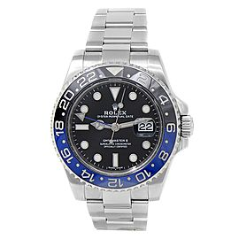 "Rolex GMT-Master II ""Batman"" Stainless Steel Auto Black Men's Watch 116710BLNR"