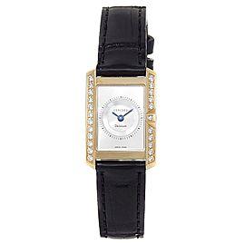 Concord Delirium 18k Yellow Gold Diamond Quartz Silver Ladies Watch 50.C1.1420.1