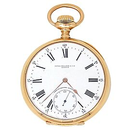 Patek Philippe Vintage Chronometro Gondolo 18k Rose Gold Open Face Pocket Watch