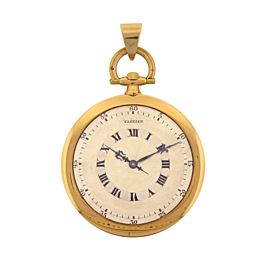 Cartier Art Deco 1940's Pocket Watch 18k Yellow Gold Manual Wind Pocket Watch