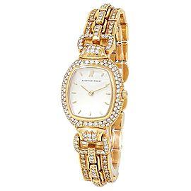 Audemars Piguet Audemarine 18k Yellow Gold Silver Watch 66474BA.ZZ.0879BA.03