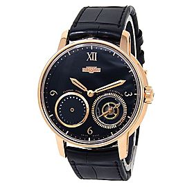 DeWitt Academia Out Of Time 18k Rose Gold Automatic Black Men's Watch AC.OUT.001
