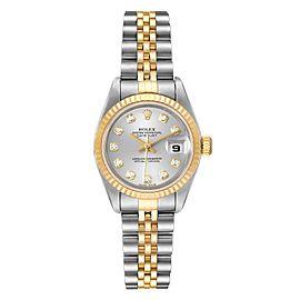 Rolex Datejust 26 Steel Yellow Gold Diamond Ladies Watch 79173