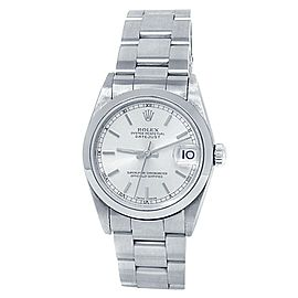 Rolex Datejust Stainless Steel Automatic Silver Midsize Watch 78240