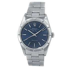 Rolex Air-King Stainless Steel Oyster Automatic Blue Men's Watch 14010