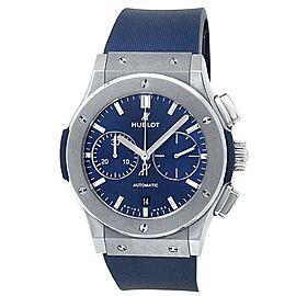 Hublot Classic Fusion Titanium Rubber Automatic Blue Men's Watch 521.NX.7170.LR