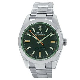 Rolex Milgauss Stainless Steel Oyster Automatic Green Men's Watch 116400