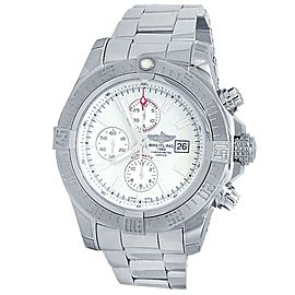Breitling Super Avenger II Stainless Steel Automatic White Men's Watch A13371