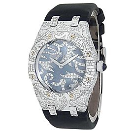 Audemars Piguet Royal Oak Lady Gold Diamonds Dark MOP Watch 67607BC.ZZ.D001SU.01