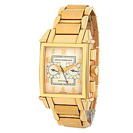 Girard Perregaux Vintage 1945 18k Rose Gold Automatic Silver Men's Watch 2599