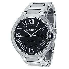 Cartier Ballon Bleu Stainless Steel Automatic Black Men's Watch W6920042