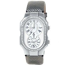 Philip Stein Signature Stainless Steel Quartz Diamonds White Silver Men's Watch