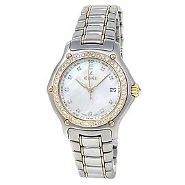 Ebel 1911 Stainless Steel 18k Yellow Gold Diamonds MOP Ladies Watch 1087221