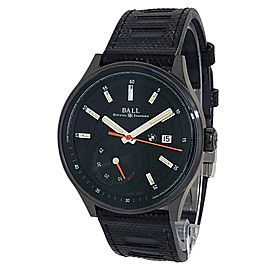 Ball BMW Black DLC Stainless Steel Leather Auto Black Men Watch PM3010C-P1CFJ-BK
