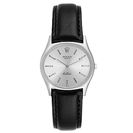 Rolex Cellini White Gold Silver Dial Vintage Mens Watch 3806