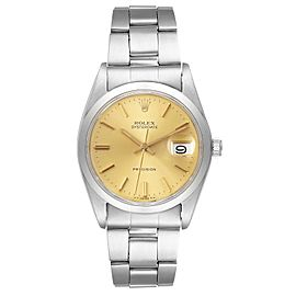 Rolex OysterDate Precision Steel Vintage Mens Watch 6694