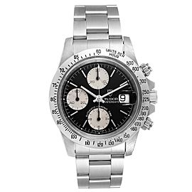 Tudor Prince Oysterdate Black Dial Chronograph Mens Watch 79180
