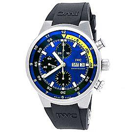 IWC Aquatimer Cousteau Divers Stainless Steel Auto Black Blue Men Watch