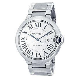 Cartier Ballon Bleu Stainless Steel Automatic Silver Men's Watch