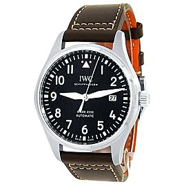IWC Pilot's Mark XVIII Stainless Steel Leather Auto Brown Men's Watch IW327003