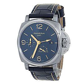 Panerai Luminor Due GMT Power Reserve Titanium Auto Blue Men's Watch PAM00964
