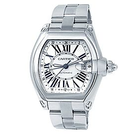 Cartier Roadster Stainless Steel Automatic Silver Men's Watch W62032X6