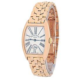 Franck Muller Cintree Curvex 18k Rose Gold Manual Silver Ladies Watch 1751 S6 PM