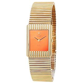 Rolex Vintage Cellini 18k Yellow Gold Manual Red Ladies Watch 4016