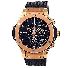 Hublot Aero Big Bang 18k Rose Gold Auto Black Skeleton Mens Watch 310.PT.1180.RX