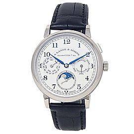 A.Lange & Sohne 1815 Annual Calendar 18k White Gold Silver Men's Watch 238.026