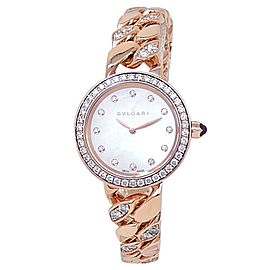 Bvlgari Bvlgari 18k Rose Gold Catene Quartz Mother of Pearl Ladies Watch 102037