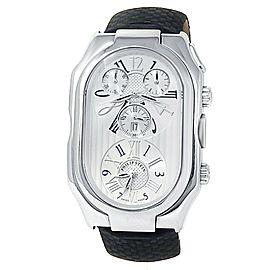 Philip Stein Prestige Stainless Steel Leather Quartz Silver Mens Watch 13-VW-ABR