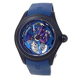 Corum Bubble Squelette Black PVD Stainless Steel Blue Skeleton Watch L082/03166