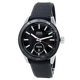 Oris Artix GT Day Date Stainless Steel Rubber Black Men's Watch 01 735 7662 4424