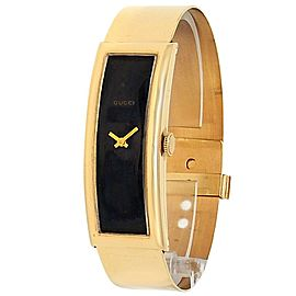 Gucci Vintage 18k Yellow Gold Manual Black Ladies Watch