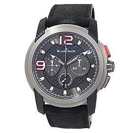 Blancpain L-Evolution Titanium Leather Auto Black Men's Watch 8885F-1203-52B