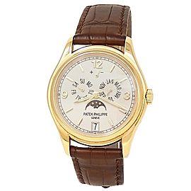 Patek Philippe Complications 18k Yellow Gold Leather Cream Men's Watch 5146J-001