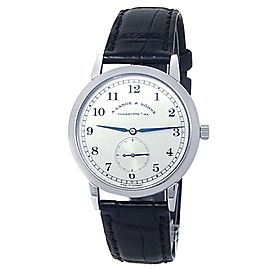 A.Lange & Sohne 1815 Platinum Black Leather Manual Silver Men's Watch 206.025